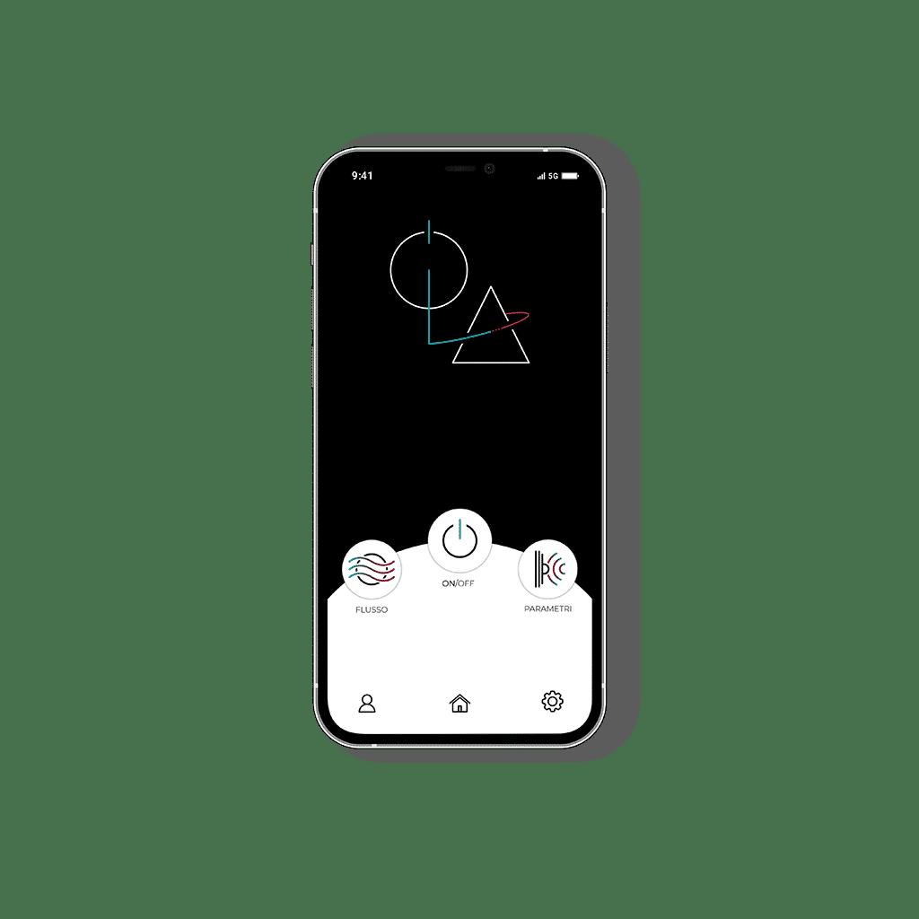 Interfaccia LOA su smartphone